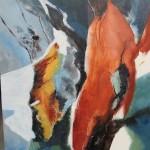 Hommage à Giacometti 36 x 24 pces - mixte sur bois